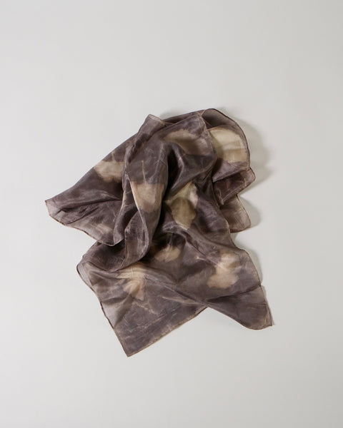 Silk Scarf - Botanical Print Gingko