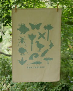 The Fantail House, Made in NZ, Tea Towels, Cotton, Duck Egg Blue