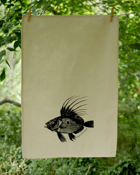 The Fantail House, Made in NZ, Tea Towels, Cotton, John Dory