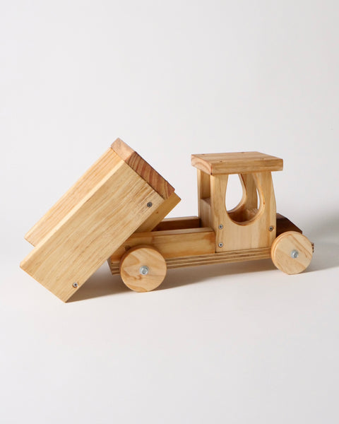 The Fantail House, Made in New Zealand, Wooden Toy, Tip Truck, Children