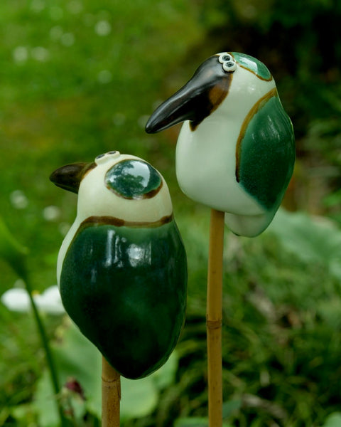 The Fantail House, Handmade in New Zealand, Wilma J Design, Kingfisher Bird, Garden Art