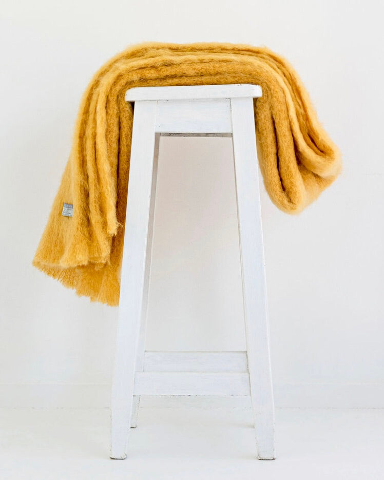 Windermere Mohair Throw - Ochre