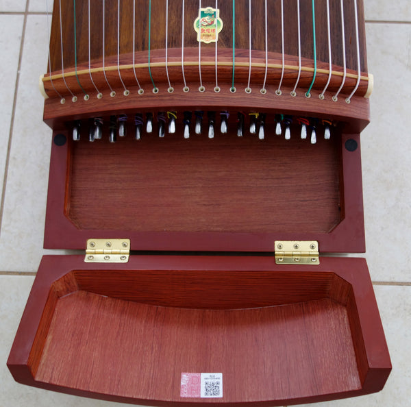 "Guzheng (Koto, Gayagum), Authentic DunHuang, Full-sized 64"". Brazilian Rosewood, superb sound  古筝 敦煌特氏古夷苏木"