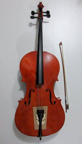 Cello 4/4 or 3/4 sized available, entry level 大提琴, 压板