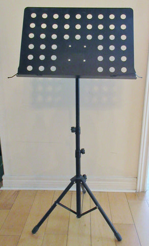 Music Stand, heavy duty, folding tripod.