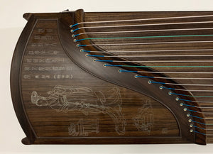 "Guzheng, Full-sized 64"". Ebony, Silver Threads, Concert Grade. 古筝 黑檀 银丝 名牌鼎韵"