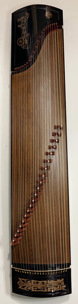"Guzheng, Full-sized 64"". DongYun 098, Collection Grade 古筝 朱雀升级版""東韻""098型 月宫祥云 挖筝"