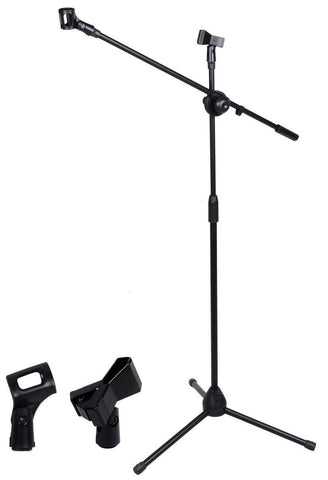 Microphone Stand, dual purpose, CAN CARRY TWO MICs! comes with 2 clips!!