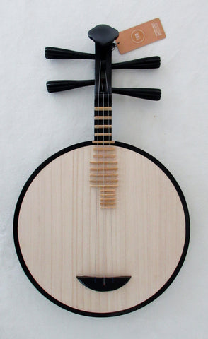 Yueqin (Chinese moon lute), Quality Tsubaki,3 or 4-stringed 乐海制椿木月琴,3或4弦,如意头