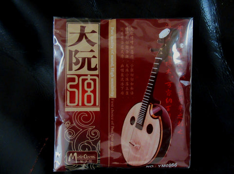 Strings for Da-Ruan (Chinese lute, Tenor/Bass Ruan), whole set (4 pieces) 大阮弦(1套4根)