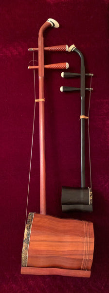Bass Erhu fiddle (Di-Hu) , Redwood 大低胡, 红木