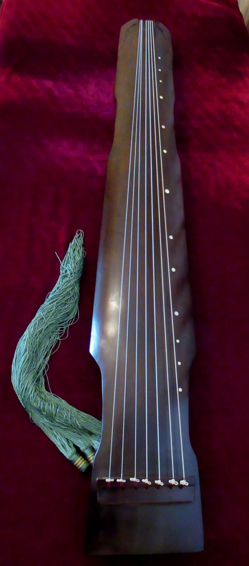 Guqin, Zhong-ni Style, with Guqin Bag & Cushioning Pads. Set up and tuned. Ready to play! 古琴,仲尼式,送琴囊与琴垫