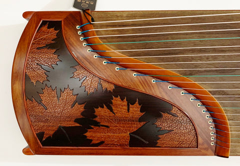 "Guzheng, Full-sized 64"". Yellow Sandalwood, Concert Grade, Free setup & tuned 古筝 乐海制 奥氏黄檀(酸枝木)"