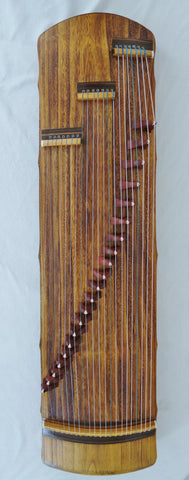 "Guzheng (Koto, Gayagum) Travel size 50"".  21 strings, Free setup & tuned before shipping 纯桐木古筝,21弦,便携式,仿唐式"