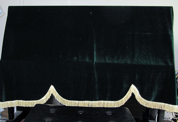 Piano cover - half length, beautiful velvet.  Suitable for all upright pianos