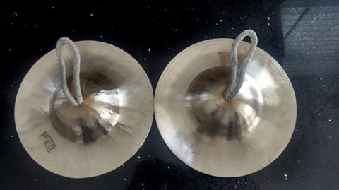 Hand Cymbals (pair) - 小京镲一对 typically found in Peking Opera