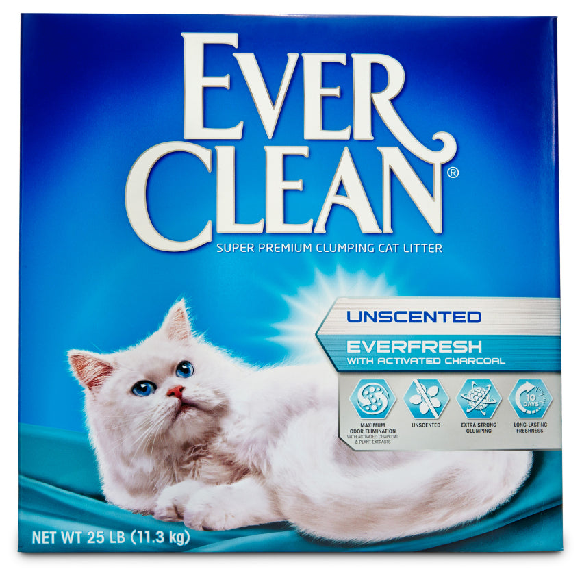 Ever Clean Everfresh With Activated Charcoal Unscented Odor Control Clay Cat Litter 25lb