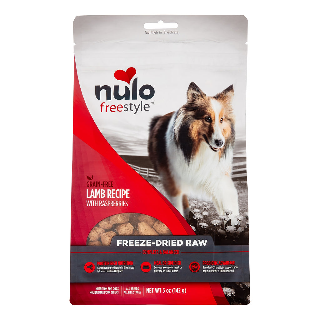 Nulo Freestyle Freeze-Dried Raw Dog Food - Lamb & Raspberries