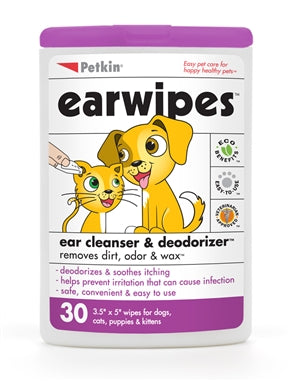 PetKin- Ear Wipes 30 pcs