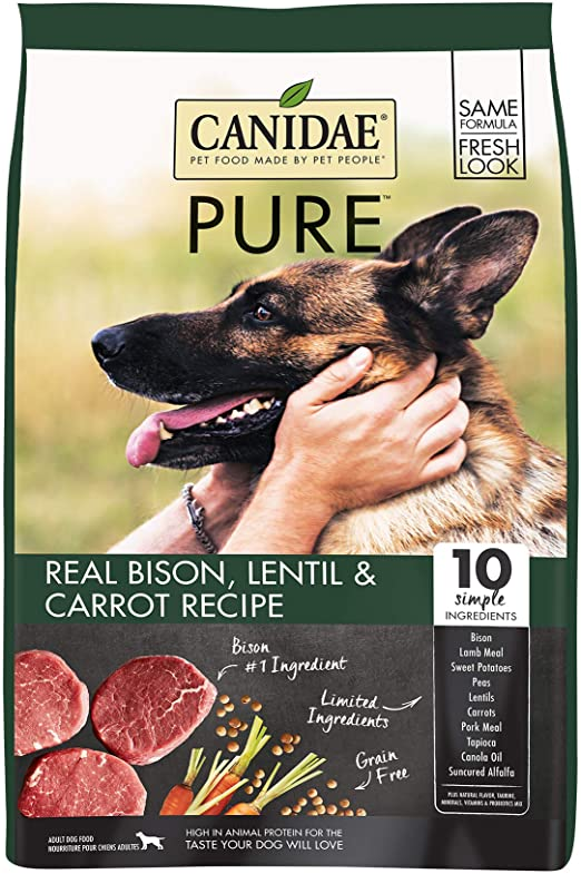 Canidae Grain Free PURE Land Adult Dog Formula with Fresh Bison