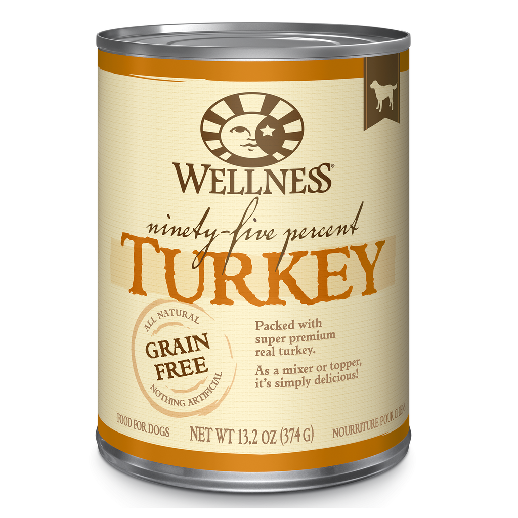 Wellness 95% Turkey & Grain Free Topper For Dogs 13.2oz