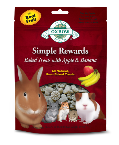 Oxbow Simple Rewards - Baked Treats with Apple & Banana
