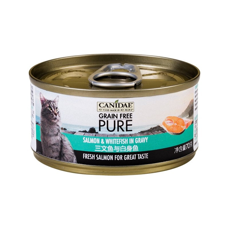 Canidae Pure Canned food for Cat - Salmon & Whitefish in gravy 70g