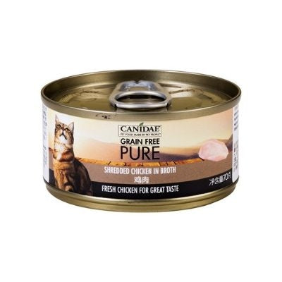 Canidae Pure Canned food for Cat - Shredded Chicken in gravy 70g