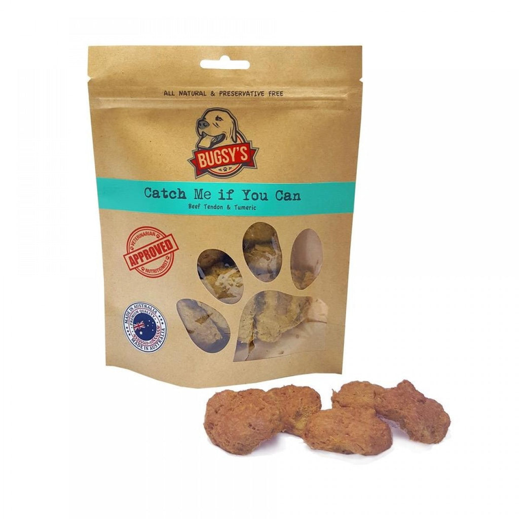 Bugsy's Dog Treats - Catch Me If You Can: Beef Tendon with Turmeric 70g