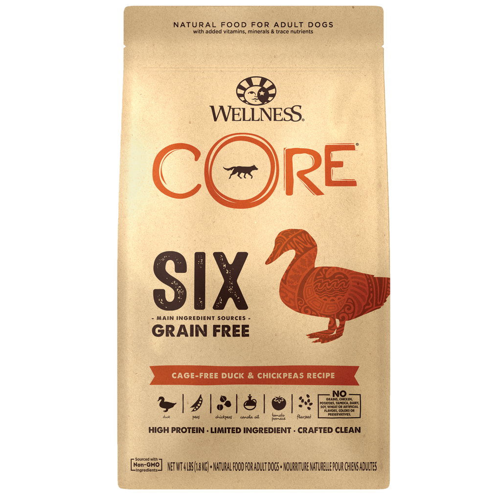Wellness Core - Core SIX Grain Free Limited Ingredient Dog Food (Cage Free Duck)