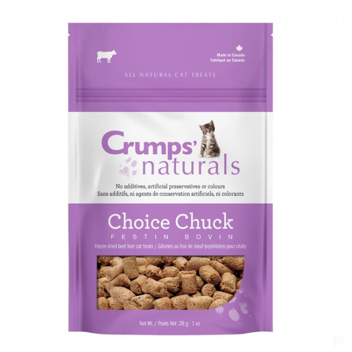 Crumps Naturals Cat Treats - Choice Chuck (Beef Liver)