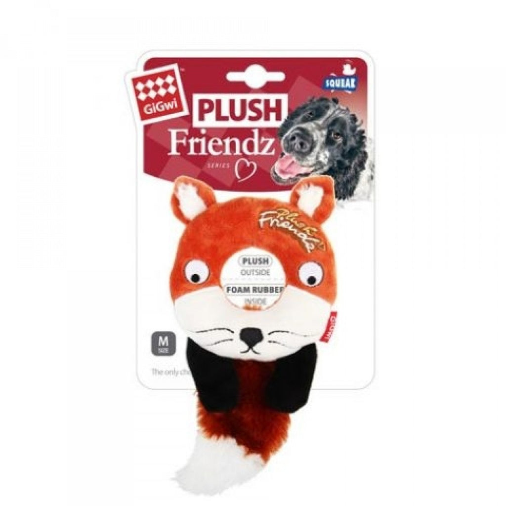 PLUSH FRIENDZ With Foam Rubber Ring and Squeaker - Fox