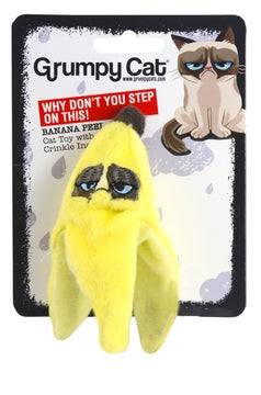Grumpy Cat - Banana Peel Cat Toy (With Crinkles Inside)