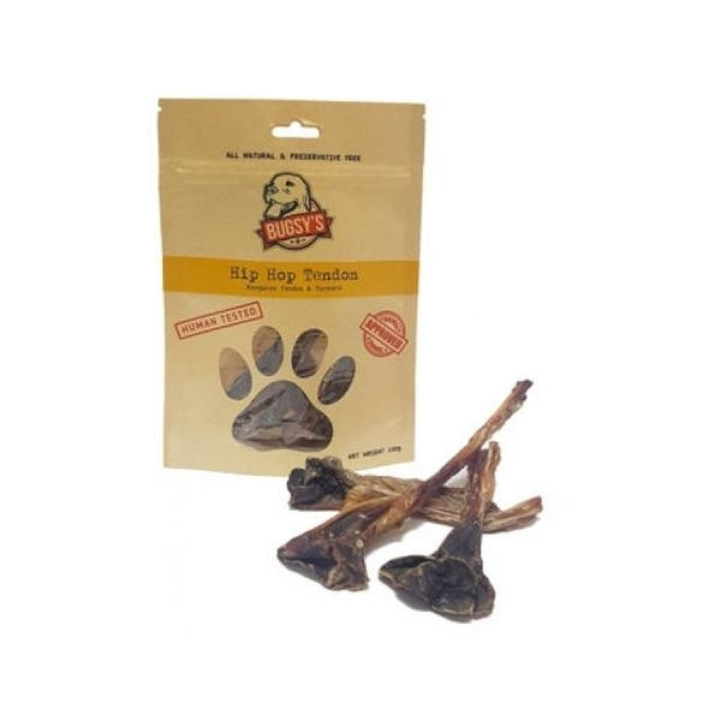Bugsy's Dog Treats - Hip Hop Tendon with Turmeric 70g