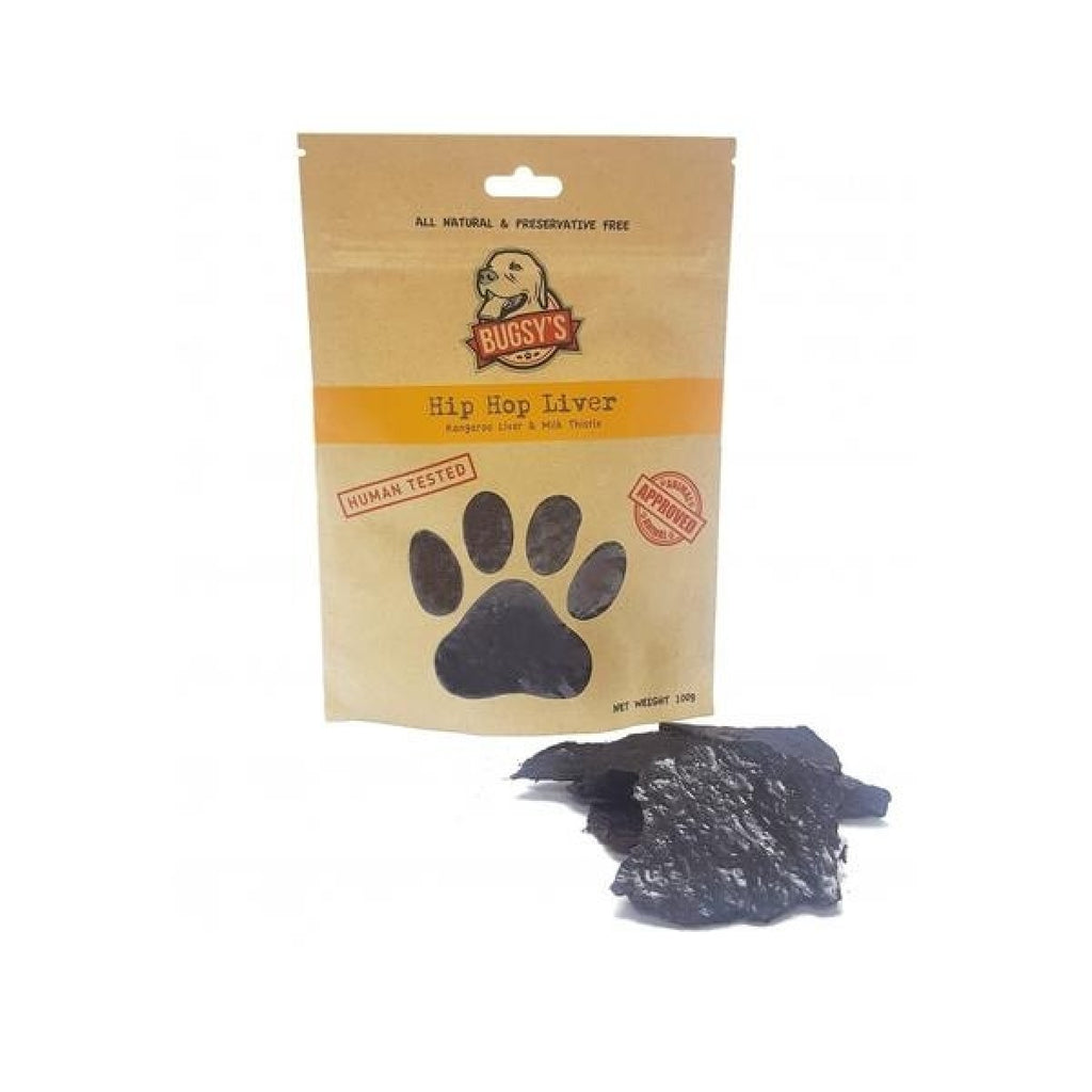 Bugsy's Dog Treats - Hip Hop Liver with Milk Thistle 70g