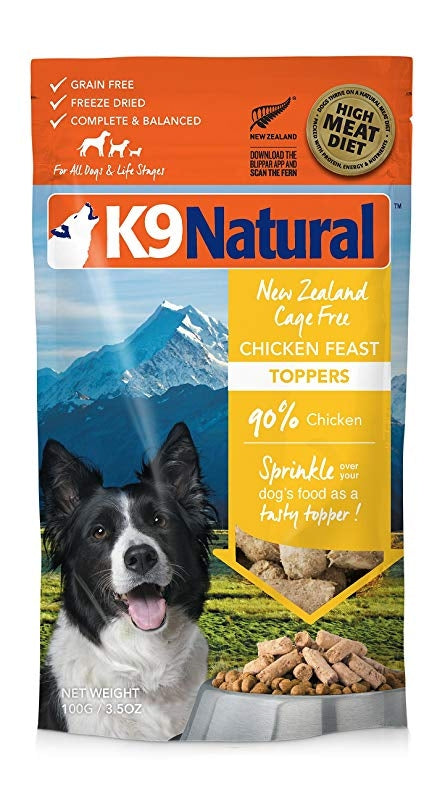 K9 Natural Freeze Dried Dog Topper - Chicken 100g