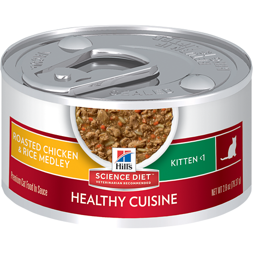 Hills Science Diet - Feline Kitten Healthy Cuisine Roasted Chicken & Rice Medley Stew 2.8oz