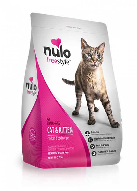 Nulo Freestyle Grain Free Cat Food For Kittens & Adults - Chicken & Cod Recipe