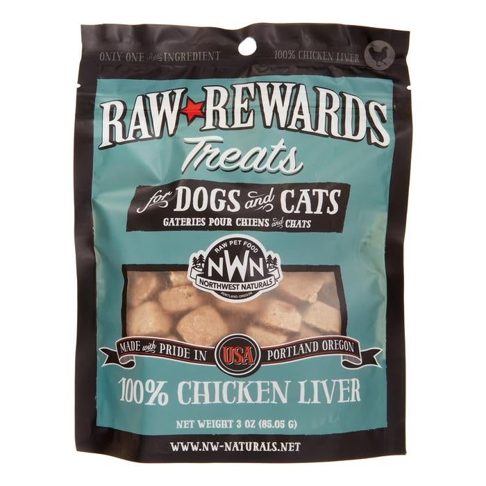 Northwest Naturals Freeze Dried Treats for Dogs and Cats - Chicken Liver 85g