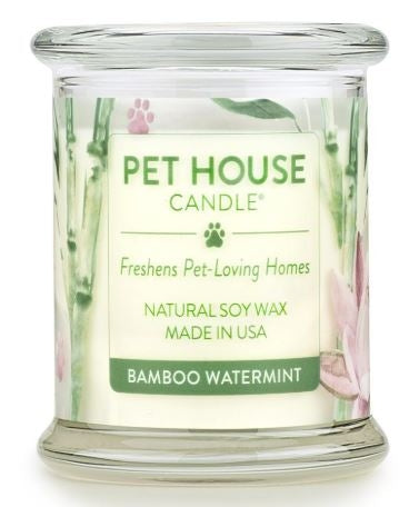 One Fur All Pet House Candle - Bamboo Watermint 8.5oz