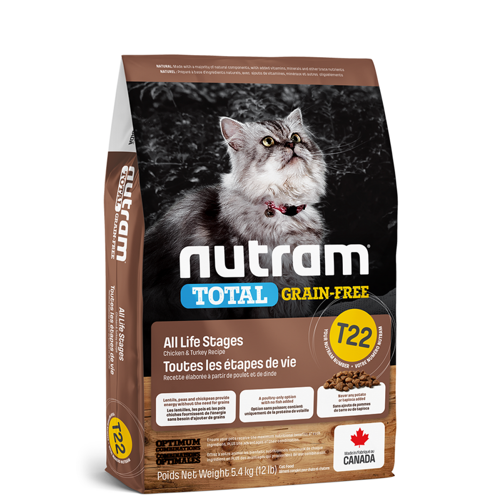 Nutram - Total Grain-Free - Turkey & Chicken Recipe (Cats) T22