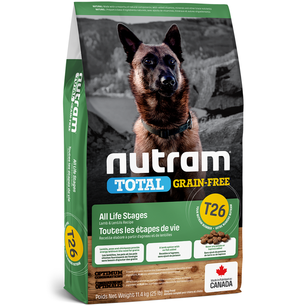 Nutram - Total Grain-Free - Lamb & Legumes Recipe T26