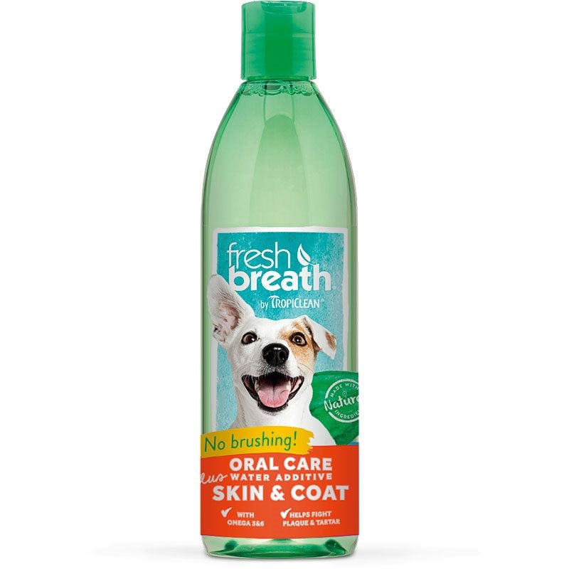 TropiClean - Fresh Breath Water Additive with Skin & Coat