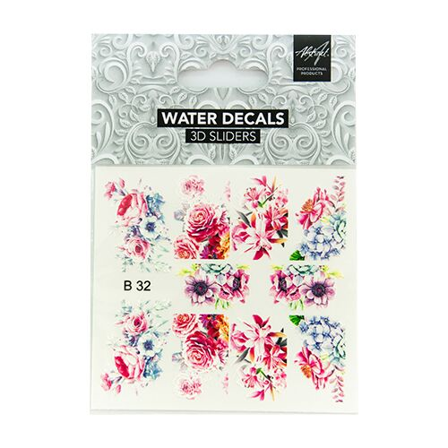 Water Decals Floral B32 3D Sliders