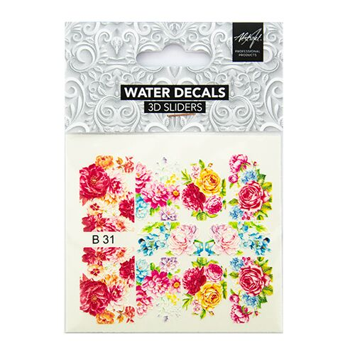 Water Decals Floral B31 3D Sliders