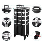 Explore 4In1 Rolling Makeup Case Cosmetic Trolley Key-Lock Tray - byootique-global.com