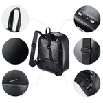 Essential Black Pu Makeup Backpack Travel Cosmetic Case Storage - byootique-global.com