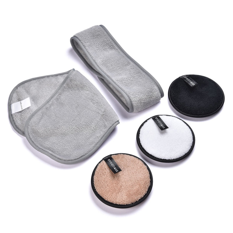 Byootique Makeup Remover Reusable (Pads Headband Towel) - byootique-global.com
