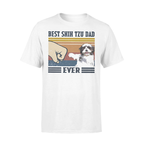 Best Shih Tzu Dad Ever Vintage T-shirt L By AllezyShirt