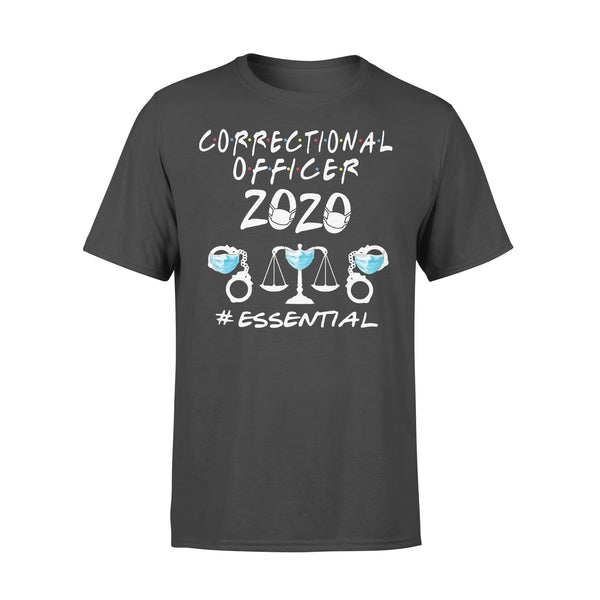Correctional Officer 2020 Essential Covid-19 T-Shirt L By AllezyShirt